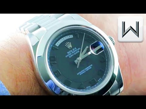 Rolex Day-Date II STEALTH DIAL Platinum 218206 Luxury Watch Review