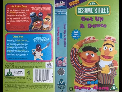 Sesame Street - Get Up and Dance & Dance Along (1998, UK VHS)