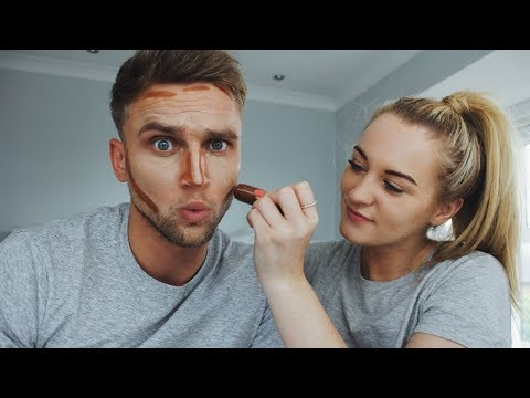 Men's Makeup Tutorial | Trying Contouring For The First Time