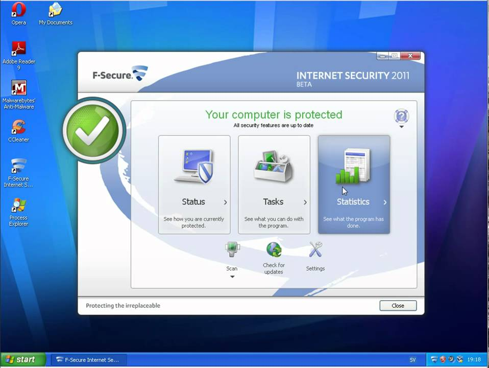 F-Secure 2011 + ESET Smart Security 4