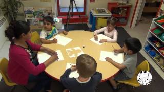 Kids draw feelings and emotions with music in Daycare LESSON 3