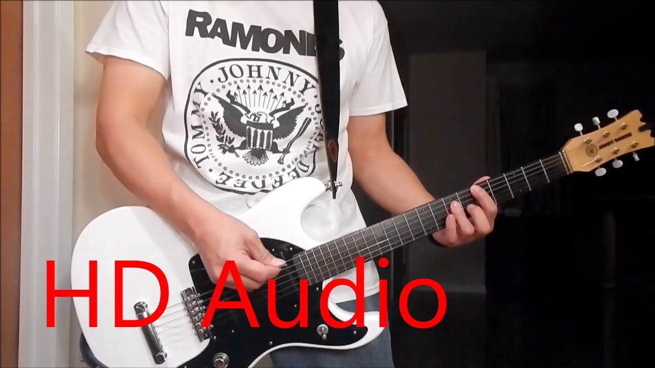 Ramones I Wanna Be Your Boyfriend Live Guitar Cover Barre Chords Downstroking Johnny Ramone