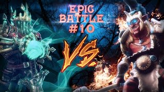 Epic battle #10 - Wraith King vs Troll Warlord