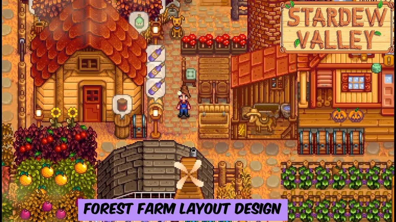 Stardew Valley - Forest Farm Layout Design - YouTube