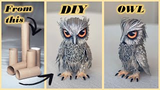 How to make PAPER OWL | DIY toilet paper roll craft ideas