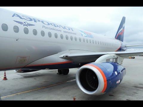 Aeroflot Sukhoi SSJ-100 Flight Moscow to Riga