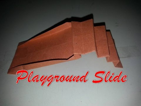How to Make a Paper Origami Playground Slide Easy - Origami Tutorial