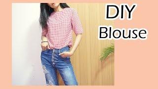 DIY Blouse | ทำเสื้อลายสก๊อต ตัวละ 50 บาท | N2N_STYLE