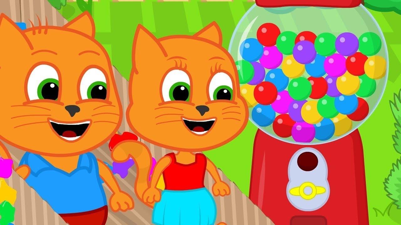 Download 🔴 Família de Gatos - O Melhor Sobre Máquina de Chicletes Animado em Português Brasil