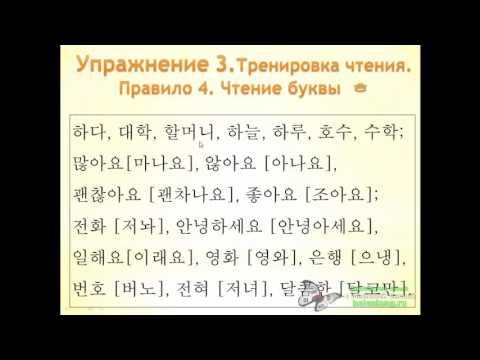 21cd1418412a4 Урок 1. Повторение алфавита, 5 первых правил чтения и глаголы. — Тренинг  Масловой Елены по Корейскому языку