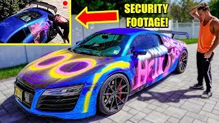 Someone SPRAY PAINTED My Audi R8! *Caught On Camera*