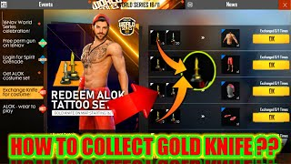 How to collect Gold Knife FREE FIRE ??{100%) || world series event full detail FREE FIRE