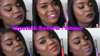 Kat Von D Everlasting Liquid Lipsticks on Dark Skin| Review + Demo | New Shades 2015