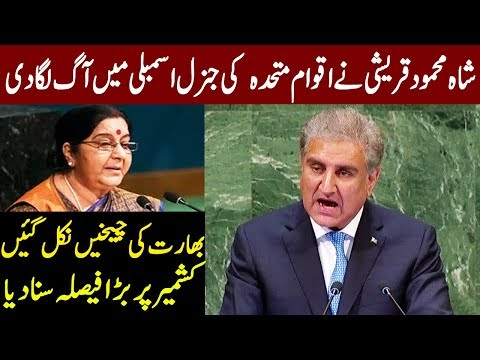 Shah Mehmood Qureshi's Fiery Speech in United Nations General Assembly | 29 September 2018 | Express