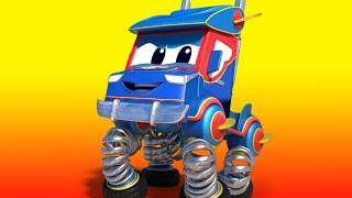 Truck videos for kids -  Spring Truck  - Super Truck in Car City