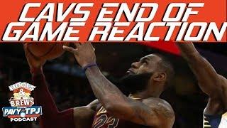 Reaction To End Of Cavs Game | Hoops N Brews