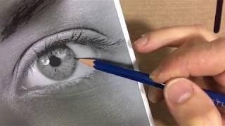 Easy Drawing Videos - How to shade Eye - Five Pencil Method - 4H - 2H - HB - 2B - 4B - Part 6