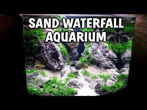 DOUBLE Sand Waterfall Planted Aquarium Setup