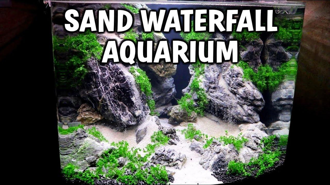 Double Sand Waterfall Planted Aquarium Setup Youtube