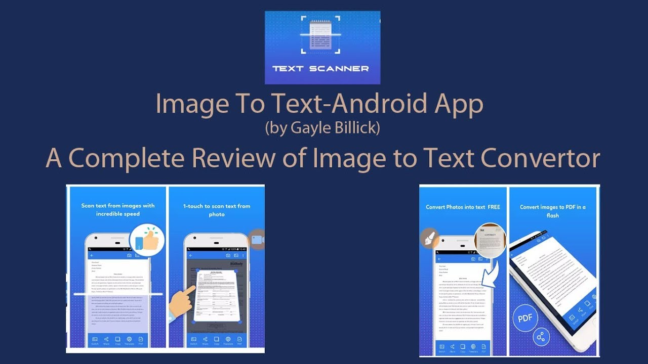 Image to text converter app