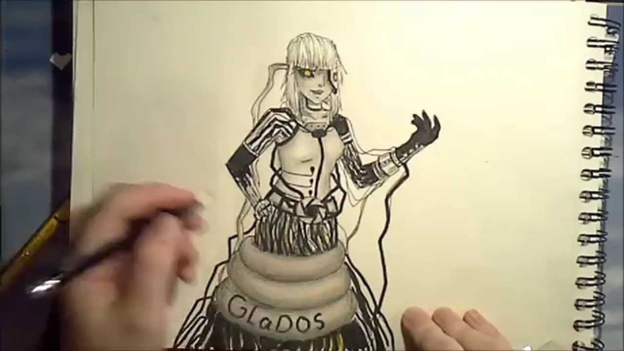 Portal 2 Glados Fanart Speed Painting