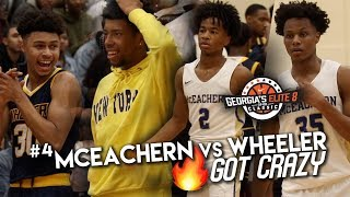 Craziest, MOST LIT CROWD in HS Hoops!!? Powerhouses #4 Mceachern & Wheeler Do Battle at GE8TOC