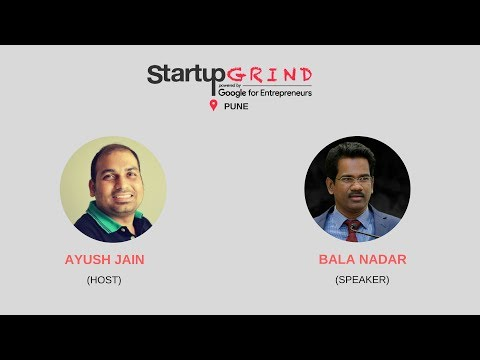 Startup Grind Pune hots Bala Nadar, Founder @ startupwala.com
