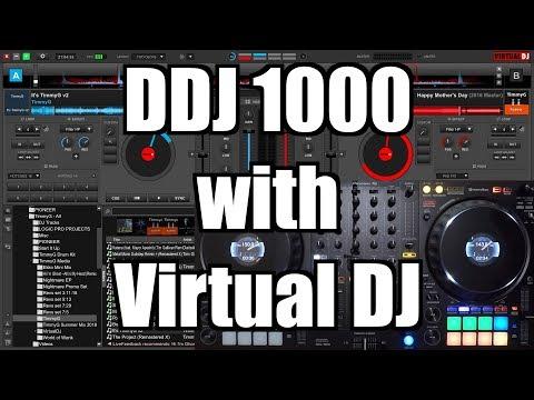 Using the Pioneer DJ DDJ 1000 with Virtual DJ