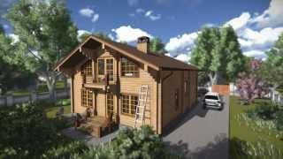 Дом из клееного бруса (3D модель)(Короткое и очень красивое анимационное видео презентует большой семейный дом из клееного бруса в виде..., 2014-01-16T11:05:21.000Z)