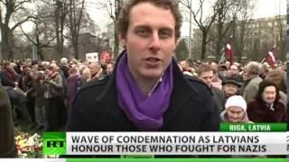 Latvians glorifyimg massMurdering of Civilian Jews during ww2
