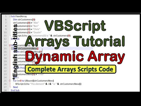 VBScript Arrays - tutorial 7