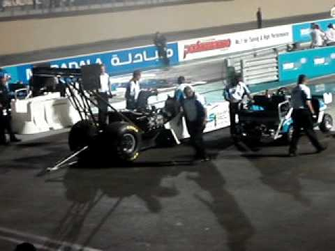 Top fuel drag racing 8000 bhp Yas Marina