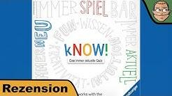 kNOW! - Das immer aktuelle Quiz - Brettspiel - Review