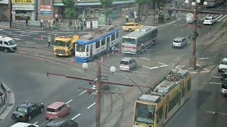 鹿児島 市電脱線で大渋滞 原因は…?