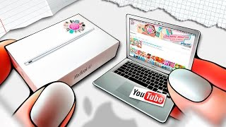Realistic Miniature APPLE MACBOOK Tutorial! | DollHouse DIY ♥