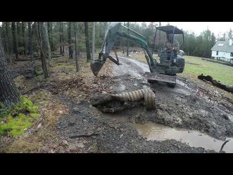 Fixing a drainage issue on a driveway