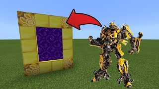 How To Make a Portal to the BUMBLEBEE Dimension in MCPE (Minecraft PE)