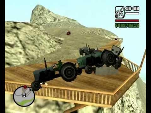 GTA San Andreas MOUNT CHILIAD STUNTS - VOL.2 (Tractors, Tow Trucks, Bandito etc. + COMBOS!)