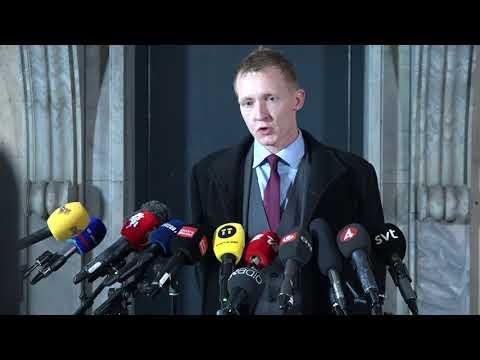 Presskonferens om åtalet mot Peter Madsen
