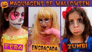 MARIA CLARA SE MAQUIANDO PARA O HALLOWEEN 🎃 Pretend Play Dress Up & Kids Make Up