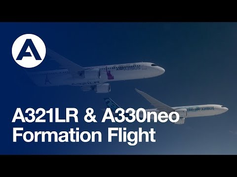 A321LR & A330neo flying in formation