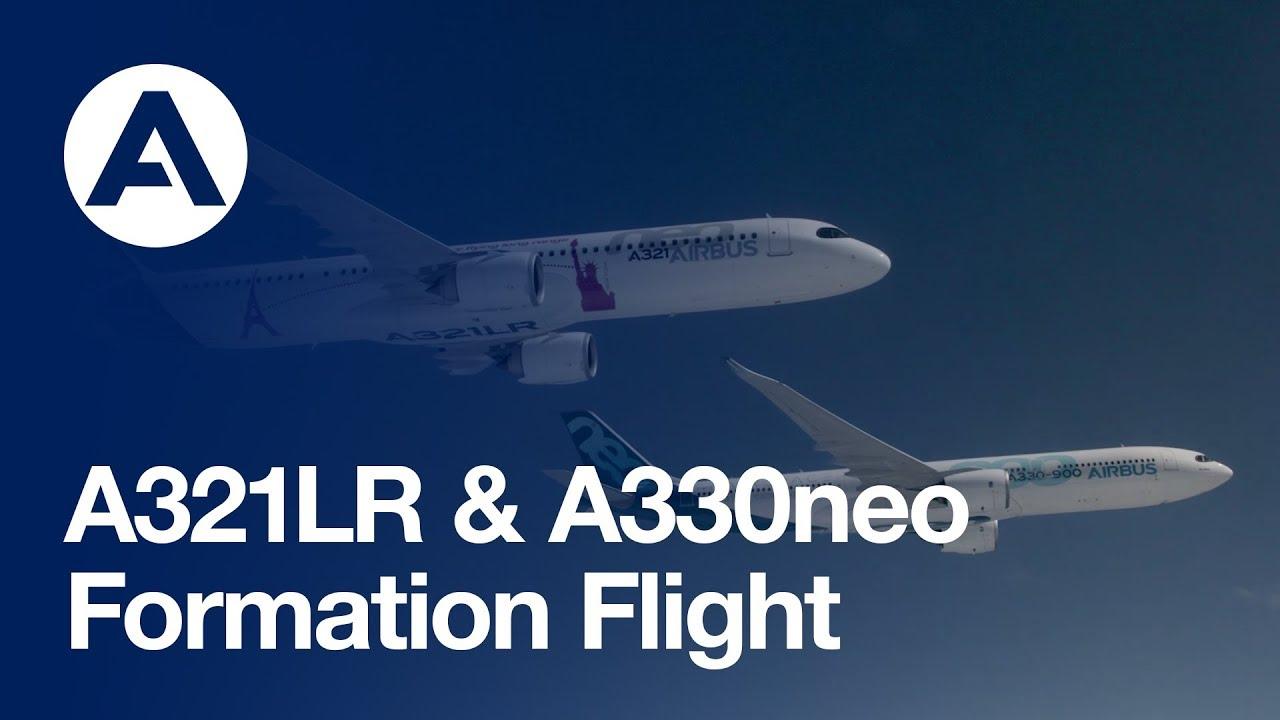 Resultado de imagem para A321LR & A330neo flying in formation