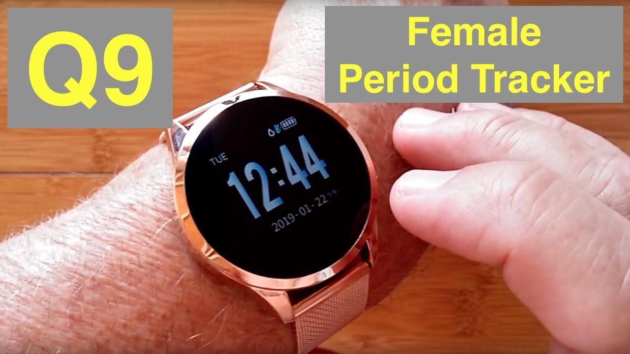 RUNDOING Q9 IP67 Waterproof Period Tracker Women's health/fitness Smartwatch: Unboxing and 1st Look