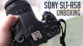 sony slt a58 unboxing
