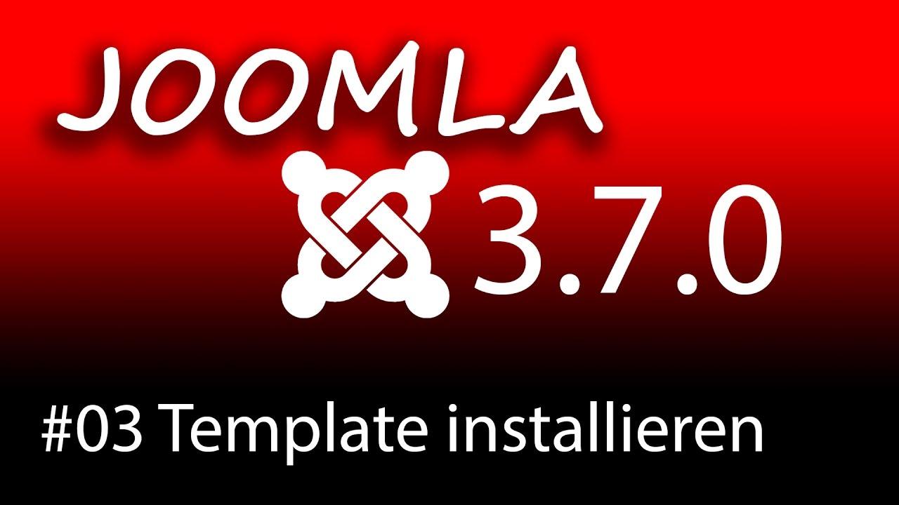 Homepage erstellen mit Joomla 3.7 - Ein Template installieren [1080p ...