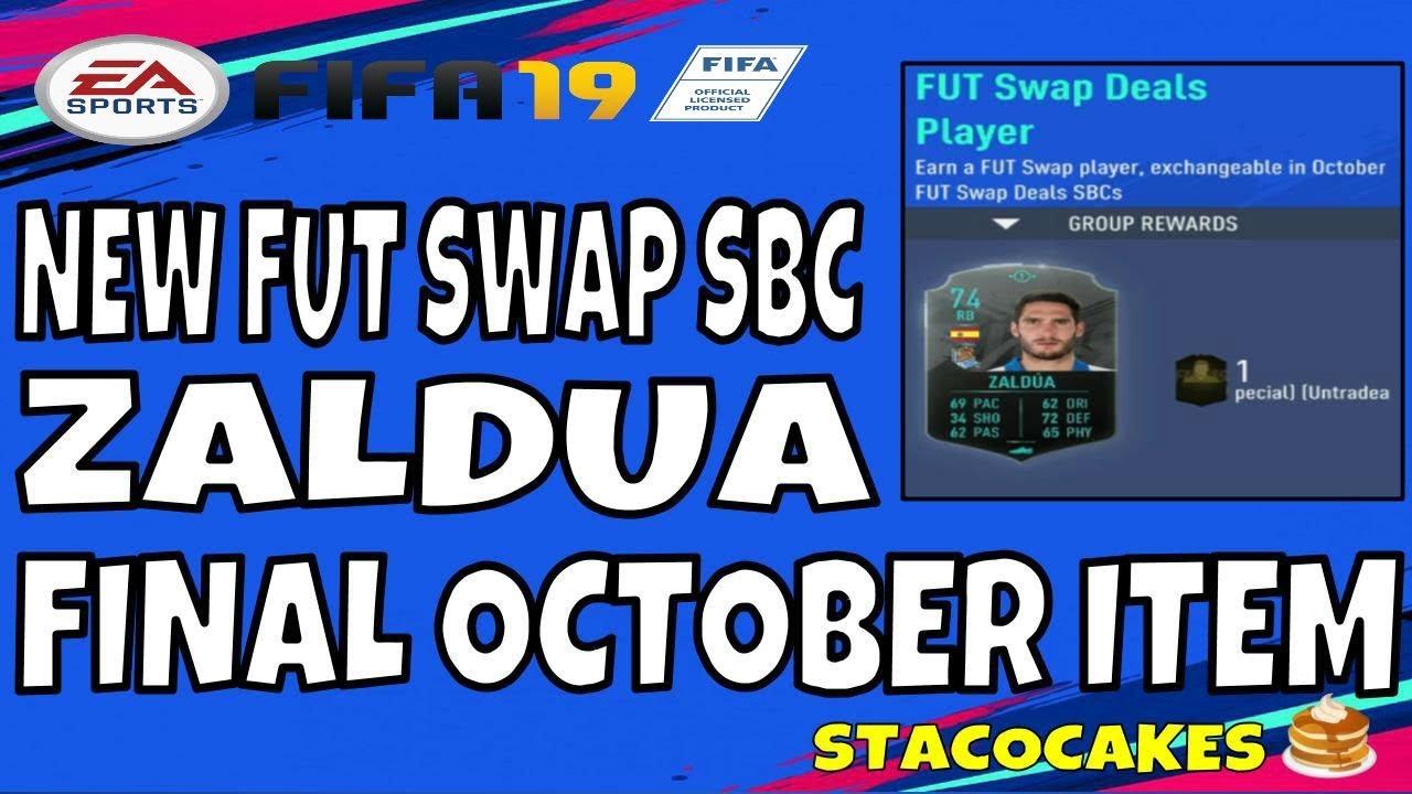 031fc8698 FIFA 19 FINAL FUT SWAP PLAYER ITEM FOR OCTOBER ZALDUA 23 HOURS LEFT TO  REDEEM YOUR FUT SWAP ITEMS