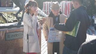 1/24 中山競馬場ハイセイコー像前.
