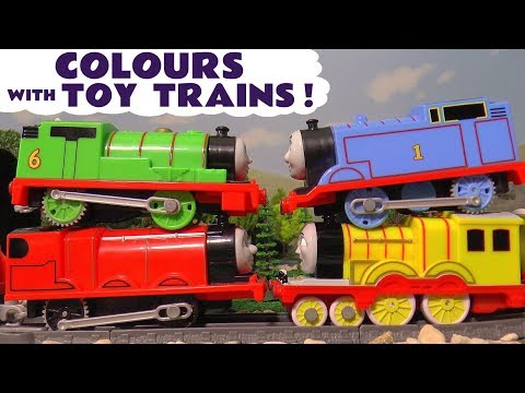 Thumbnail: Learn Colors with Thomas & Friends Toy Trains for Kids Children Toddlers - Kinder Surprise Eggs TT4U