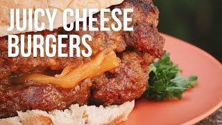 Juicy Cheese Burgers - Cooking on GRILLA Kong Charcoal Kamado Grill