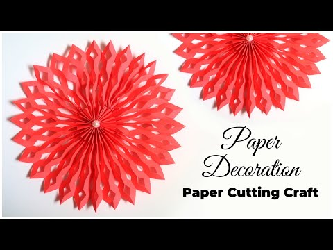 DIY Paper Decorations | Paper Cutting Craft | Paper Snowflake